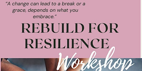 REBUILD FOR RESILIENCE tickets