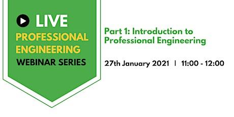 Professional Engineering  webinar series tickets
