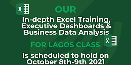 n-depth Excel Training, Executive Dashboards & Business Data Analysis tickets