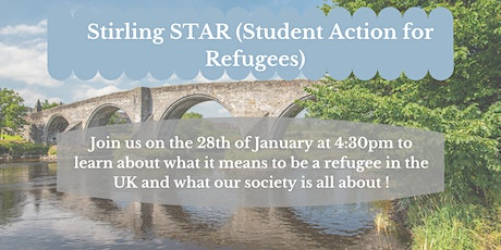 Introducing Stirling STAR  & what it means to be a refugee in the UK tickets