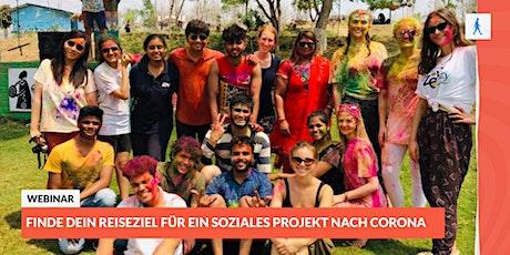 Finde dein Reiseziel für ein soziales Projekt nach Corona Tickets