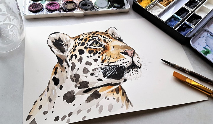 Drawing and Painting a Spirit Animal 2021 via Zoom image