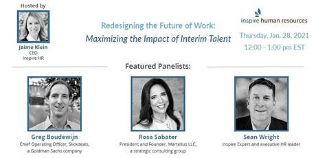 Maximizing the Impact of Interim Talent (Your Secret Weapon) tickets
