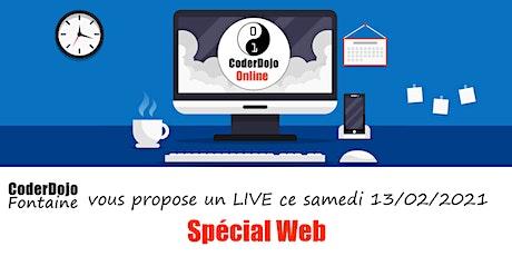 CoderDojo Fontaine - ONLINE - Spécial Web - 13/02/2021 billets