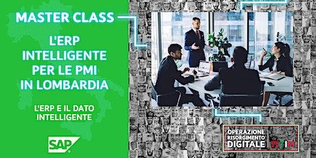 L'ERP intelligente per le PMI in Lombardia - ERP e il dato intelligente biglietti