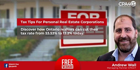 Tax Tips For Personal Real Estate Corporations tickets