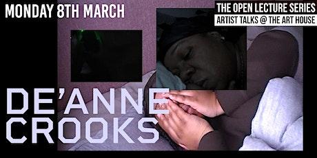 De'Anne Crooks - Art House Open Lecture series 2021 tickets