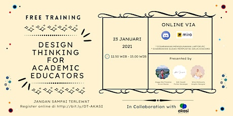Design Thinking For Academic Educator tickets