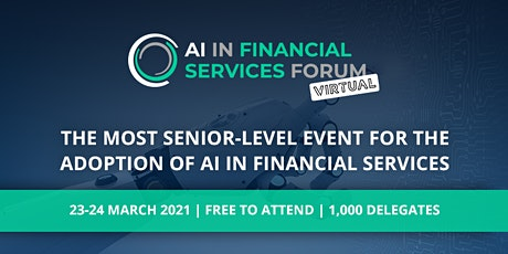 AI in Financial Services Forum - Virtual tickets
