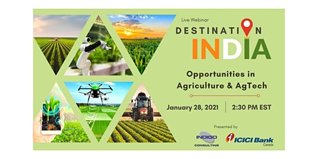 Destination India: Opportunities in Agriculture & AgTech tickets