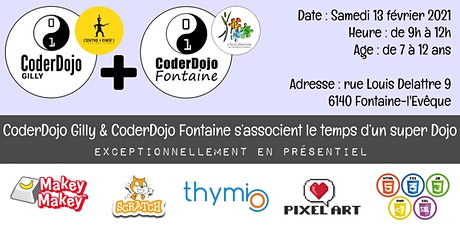 CoderDojo Gilly & Fontaine - 13/02/2021 billets