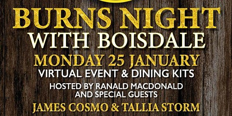CELEBRATE BURNS NIGHT WITH BOISDALE tickets