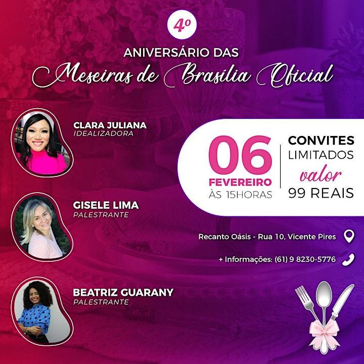 Imagem do evento 4º Aniversário Meseiras de Brasília Oficial