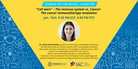 """Science on the Rocks- """"The Cancer Immunotherapy Revolution"""" tickets"""