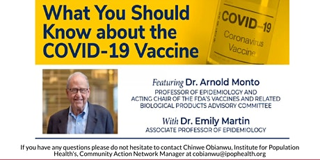 "CAN meeting to discuss ""What You Should Know about the COVID-19 Vaccine"" tickets"