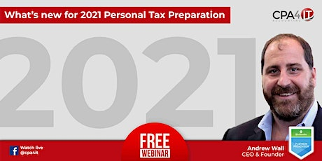 What's new for 2021 Personal Tax Preparation tickets