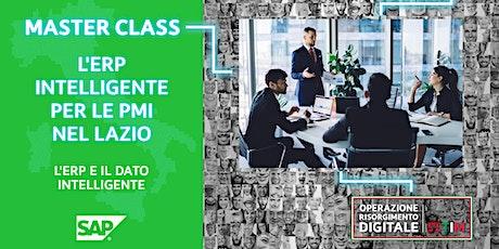 L'ERPintelligente per le PMI nel Lazio - ERP e il dato intelligente biglietti