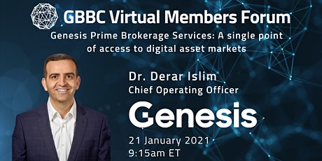 GBBC Virtual Members Forum with Genesis Trading tickets