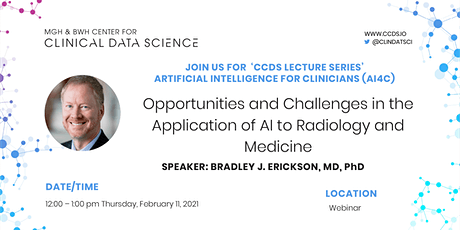 Opportunities & Challenges in the Application of AI to Radiology & Medicine billets