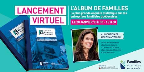 Lancement virtuel - L'Album de familles billets