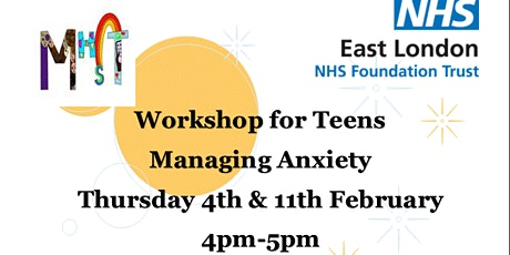 Managing Anxiety  - 2-part workshop for teens tickets