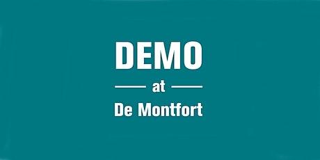 Demo at De Montfort - Sustainable Travel tickets