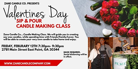 SIP & POUR Valentine...Candle Making Class experience tickets