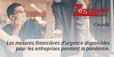 Les mesures financières d'urgence disponibles pour les entreprises billets
