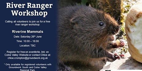 River Ranger Workshop - Riverine Mammals tickets