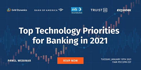 Top Technology Priorities for Banking in 2021 tickets