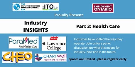Industry Insights - Session 3 - Health Care tickets