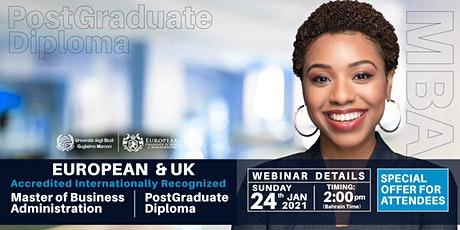 European & UK Accredited MBA & PGD tickets