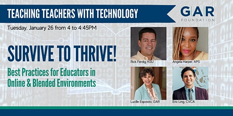 Teaching Teachers with Technology: Survive to Thrive! tickets