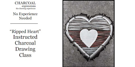 Virtual Charcoal Drawing Event -Ripped Heart tickets