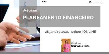 "Webinar ""Planeamento Financeiro"" bilhetes"