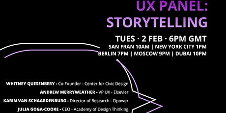UX Panel: Storytelling tickets