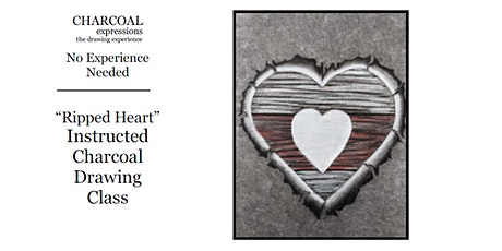 """Charcoal Drawing Event """"Ripped Heart"""" in Stevens Point tickets"""