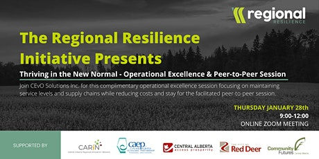 Thriving in the New Normal - Operational Excellence & Peer-to Peer Session tickets