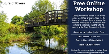 Online Volunteer Workshop - Future of Rivers tickets