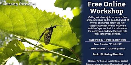 Online Volunteer Workshop - Fluttering Riverflies tickets