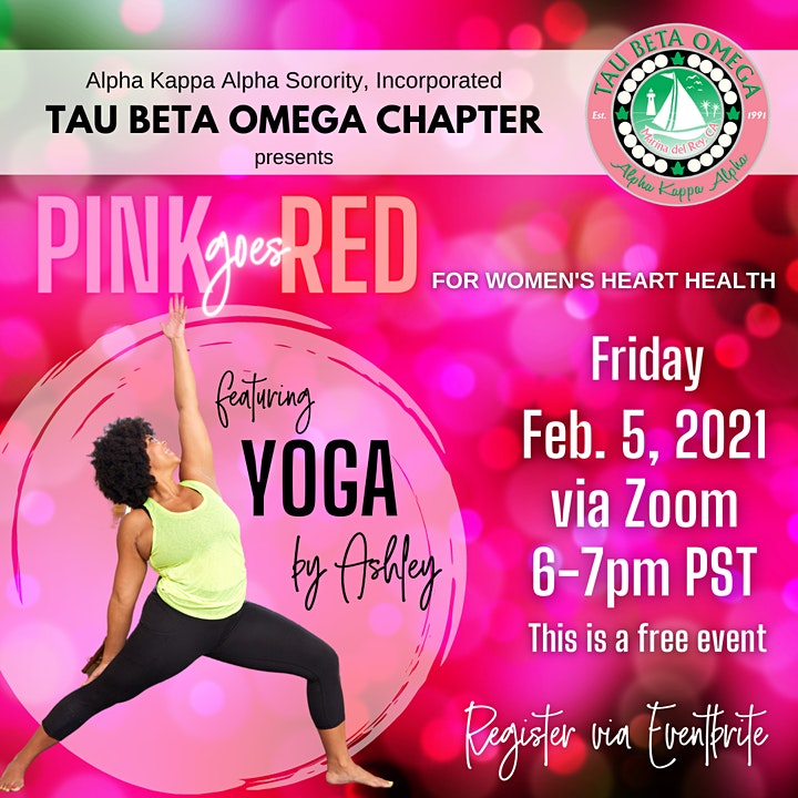Tau Beta Omega presents Pink Goes Red  featuring Yoga by Ashley image