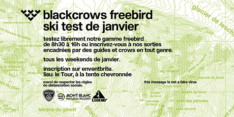 black crows freebird ski test de Janvier - Chamonix billets