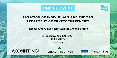 Taxation of Individuals and the Tax Treatment of Cryptocurrencies tickets
