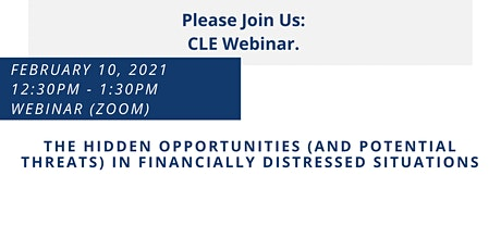 Financially Distressed Situations-Hidden Opportunities & Potential Threats tickets