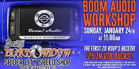 Bert's Black Widow~Boom Audio Workshop tickets