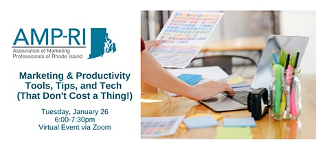 Marketing & Productivity Tools, Tips, and Tech (That Don't Cost a Thing!) tickets