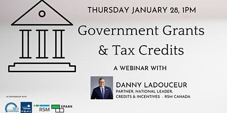 Government Grants & Tax Credits tickets