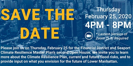 FiDi Seaport Climate Resilience Master Plan: Virtual Open House tickets