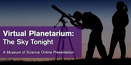 Virtual Planetarium: The Sky Tonight - #livestream tickets