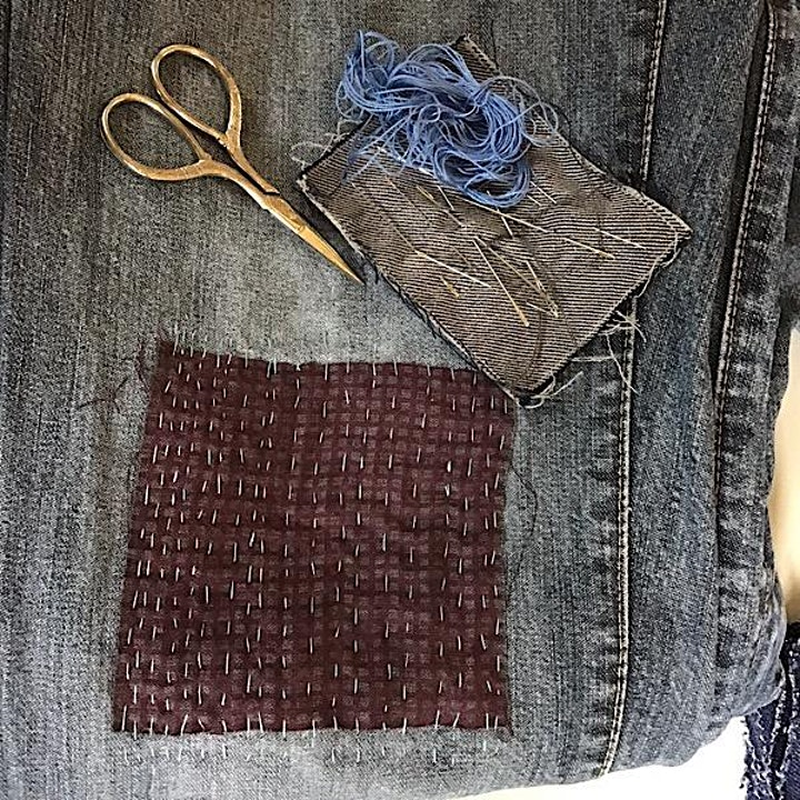 Patch your Clothes - Online Workshop (including Patching kit) image